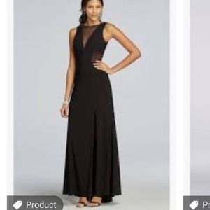 BLACK ILLUSION FORMAL GOWN